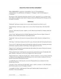 web hosting agreement template agreement templat