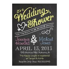 couples wedding shower invitations chalkboard couples wedding shower invitations zazzle