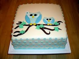 owl baby shower cake owl shape would be easy for cookies also