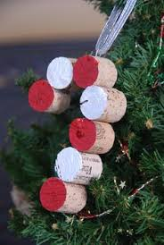 wine cork ornaments peace on earth wine cork