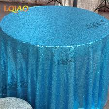 Wedding Linens For Sale Aliexpress Com Buy Sale Turquoise Sequin Tablecloth 120 Inch