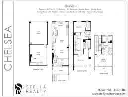 Central Park Floor Plan by Chelsea Central Park West Irvine Homes For Sale