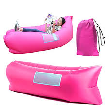 Air Filled Sofa by Happycell Outdoor Inflatable Lounger Portable Lightweight Air