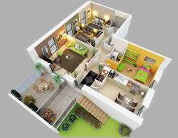 home design three bedroom house apartment floor plans 3d