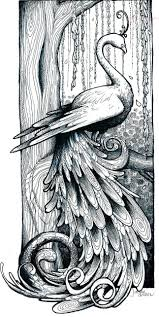 flying phoenix lineart tattoo design photos pictures and