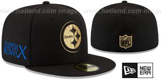 steelers bowl x gold 50 black fitted hat by new era at hatl