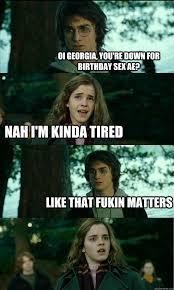 Birthday Sex Meme - horny harry memes quickmeme