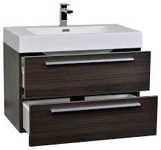 Dark Gray Bathroom Vanity by Tribeca Chilled Gray 36 In Contemporary Bathroom Vanity At