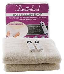 dreamland intelliheat heated fleecy king size dual mattress