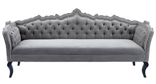 Grey Button Sofa Furniture Best Quality Grey Velvet Sofa For Your Living Room