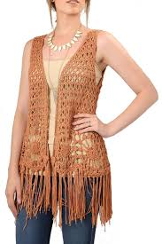 Montana travel vests images The closet crochet fringe vest from montana shoptiques jpg
