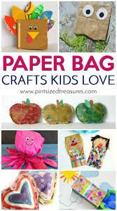 paper bag crafts kids love