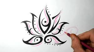 lotus flower tattoos design sketch idea