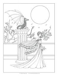 princess human colouring print coloring pages flower fairies