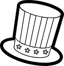 4th of july best hat coloring page wecoloringpage