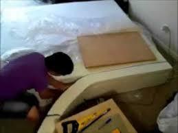 Custom Cut Upholstery Foam How To Cut A Memory Foam Mattress Youtube