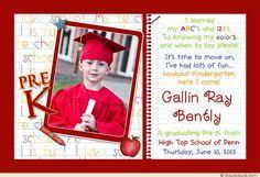 kindergarten graduation announcements custom kindergarten pre school graduation announcement invitation