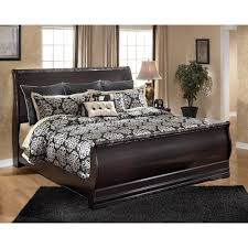 King Sleigh Bed Frame Signature Design By Ashley Esmarelda King Sleigh Bed With Faux