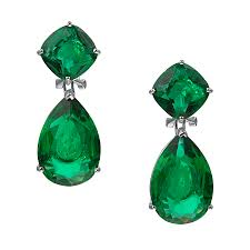 green earrings omega clip green earrings ciro jewelry black tie