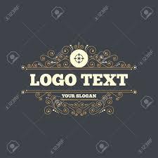 crosshair sign icon target aim symbol flourishes calligraphic