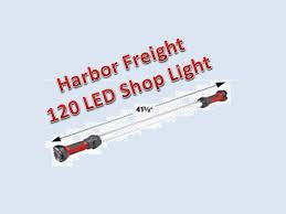 harbor freight light bar shop light harbor freight 120 led rechargeable shop light youtube