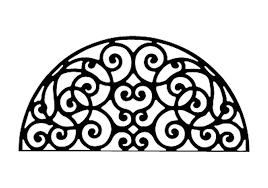 Iron Metal Wall Decor Half Round Circle Scroll