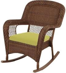 Outdoor Furniture Martha Stewart by Martha Stewart Living Charlottetown Brown Wicker Patio Rocking