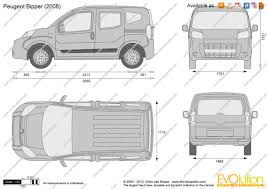 peugeot bipper van the blueprints com vector drawing peugeot bipper