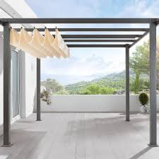 28 Ideen Fur Terrassengestaltung Dach Amazon De Terrassen Pavillon Pergola Aluminiumgestell Polyester