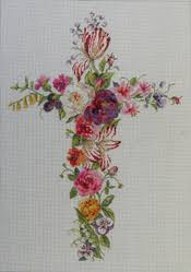 another beautiful cross if242 floral cross 12x17 18m