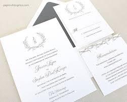 Wedding Invitations Hotel Accommodation Cards Laurel Wreath Wedding Invitations Paperwhites Wedding Invitations