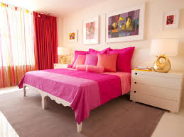 Girls Bedroom Accent Wall Pink Bedroom Accent Wall Pink Black Lines Pattern Painted Wall
