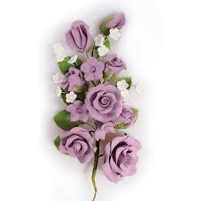 flowers roses lilac wired flowers roses 170mm iced