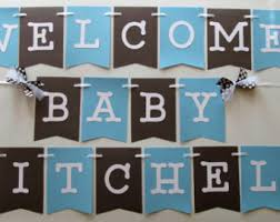 Baby Blue And Brown Baby Shower Decorations Superman Its A Boy Banner In Red Blue And Yellow For Baby