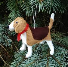 Dog Christmas Ornaments Beagle Christmas Tree Ornament Dog Ornament Wool Felt