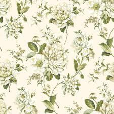 B Q Bedroom Wallpaper Bethany Floral Cream U0026 Green Wallpaper Departments Diy At B U0026q