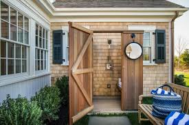 How To Build An Outdoor Shower Enclosure - outdoor showers crafts home