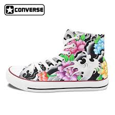 original design converse chuck taylor tattoo shoes women men hand