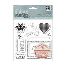 craft christmas 5x5 urban stamp set docrafts pma 907945
