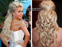 julianne hough inspired half up bridal hairstyle