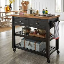rolling kitchen islands eleanor two tone rolling kitchen island by inspire q free