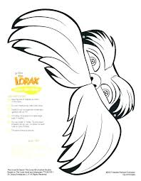 lorax coloring pages pdf dr seuss lorax coloring pages spremenisvet info