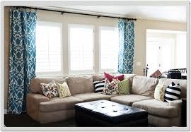 window treatment ideas for living rooms soft blue curtains and