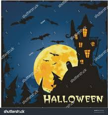 halloween haunted house flyer background grungy halloween background haunted house bats stock vector