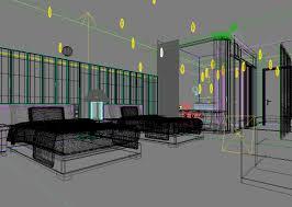 3d model modern hotel room cgtrader