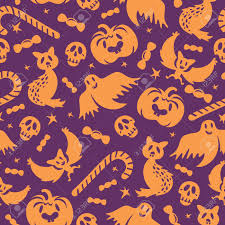 halloween background papers halloween seamless pattern background wallpaper vector