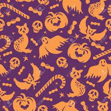free halloween background paper halloween seamless pattern background wallpaper vector