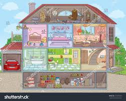 two storey house twostorey house garage sectional stock vector 274276025 shutterstock