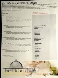 Our Prix Fixe Menu Picture Of The Kitchen Table By White Palm - Kitchen table menu
