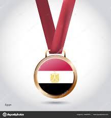 Eygpt Flag Egypt Flag In Bronze Medal U2014 Stock Vector Ibrandify 134475970